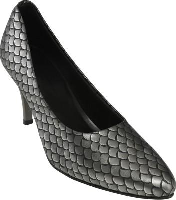 Shoe Bazar Women Grey Heels