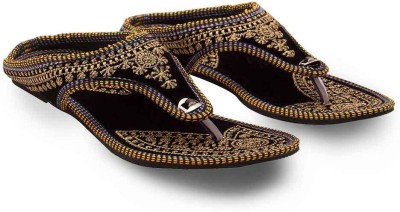 Tradition India Girls Black Flats