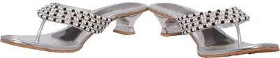 Fcoat Women Silver Heels