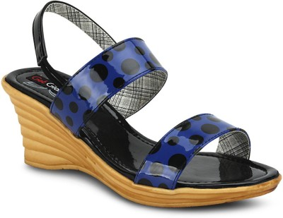 Get Glamr Women Blue Wedges