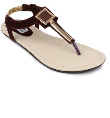 SRS Women Brown Flats