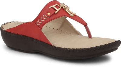La Briza Women Red Wedges