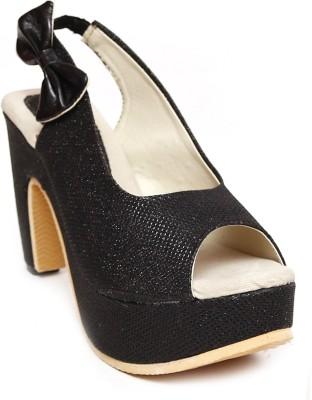 Zohra Collection Women Black Heels