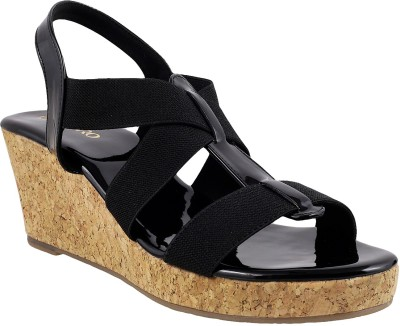 Metro Women 11,Black Wedges at flipkart