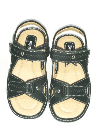 BAMBINI Baby Boys Black Sandals