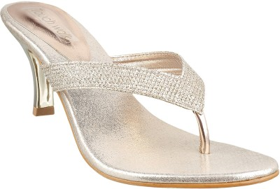 TOUCH WALK Women Gold Heels