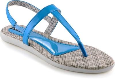 Kielz Ladies Women Blue Flats