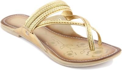 Wellworth Women Gold Flats