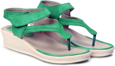 Meriggiare Women Green Wedges