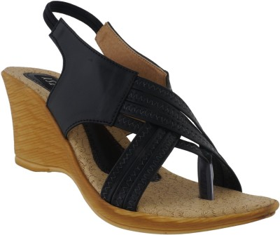 Footsy Women Black Wedges