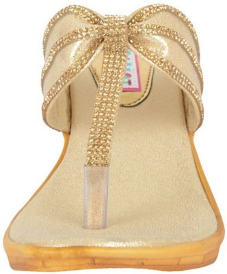 belly ballot Women Gold Wedges