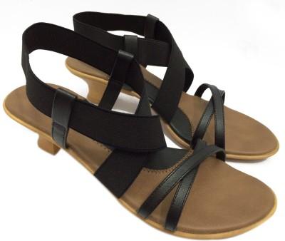 KNEETOES Girls Black Heels