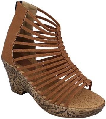 NE Shoes Women Brown Heels