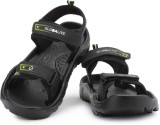 Globalite Men Black Lime Sports Sandals