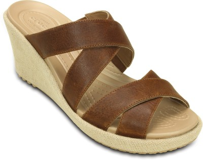 Crocs Women Brown Wedges at flipkart
