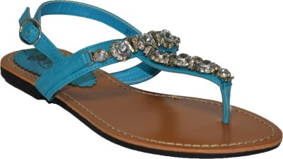 TSF Blue Sandal Women Blue Flats