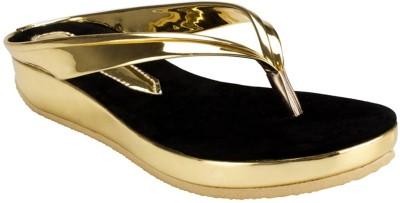 Nshell Women Gold Flats