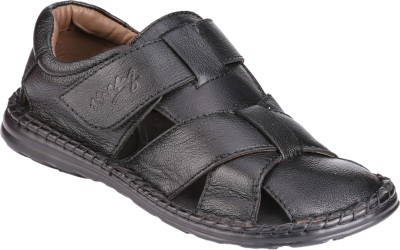 Menz WP-07 Men Black Sandals