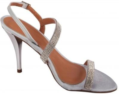 Moda Brasil Women Silver Heels
