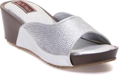 Flat n Heels Women Silver Wedges