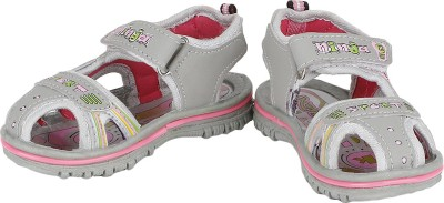 Buds N Blossoms Baby Boys, Baby Girls Pink, Grey Sandals