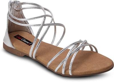 Get Glamr Women Silver Flats