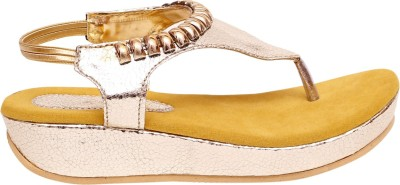 Zohra Collection Women Yellow Flats