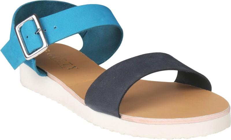Glety Women Blue Flats