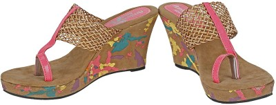 Amica Slexia Women Pink, Brown Wedges