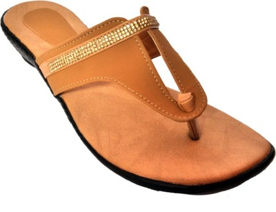 Womens Club Women Brown Flats