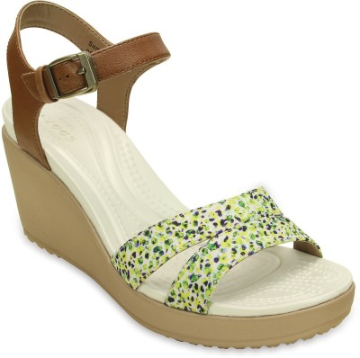 Crocs Women Hazelnut Wedges at flipkart