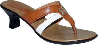 Marc Royal Women Tan, White Heels