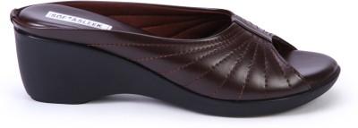 Soft & Sleek Women Brown Wedges