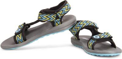 TerraVulc Men Black, Grey, Yellow Sports Sandals