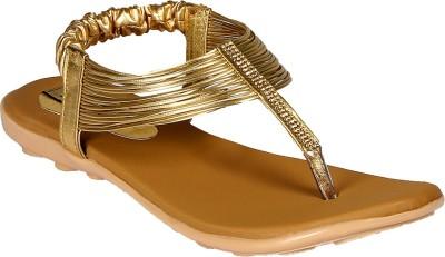 Sporch Women Gold Flats