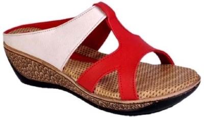 Jolly Jolla PU Choice Women Red, White Wedges