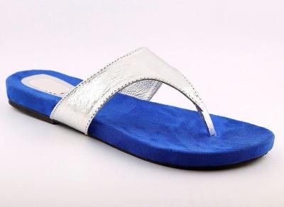 Cenizas Sparkling Flats Women Silver, Blue Flats