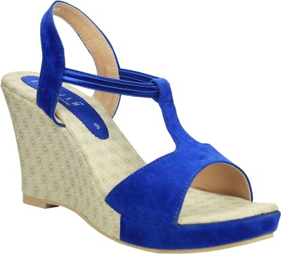 Florish Women Blue Wedges