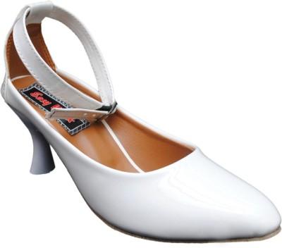 easy walk Women White Heels