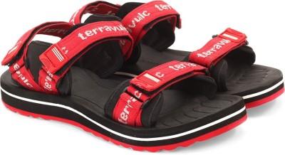 TerraVulc Men Black, Red Sports Sandals