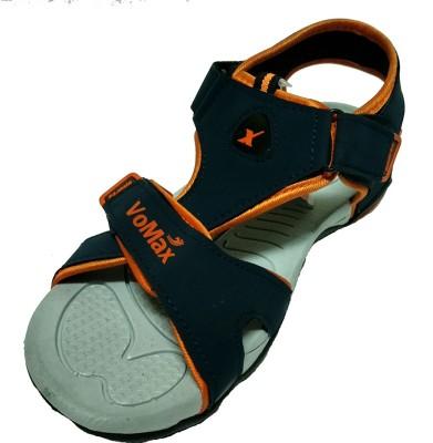 VoMax Men Navy, Orange Sandals