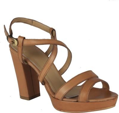 Salt N Pepper 14-052 Megan Cuio Women Tan Heels