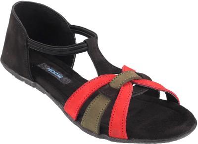 Mochi Women Black Flats