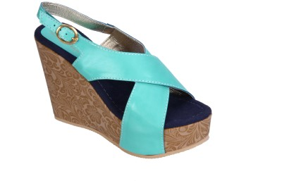 Fashion Mafia Women Blue Wedges