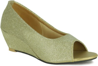 GISOLE Women Gold Wedges
