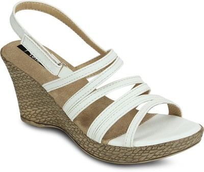 Kielz Women White Wedges at flipkart