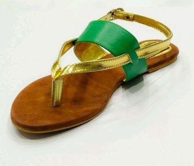 Relexop Women Green Flats