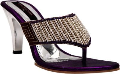 Trilokani Women Purple Heels
