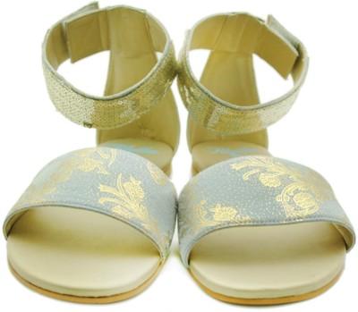 Rhythm & Shoes Women Blue, Gold Flats