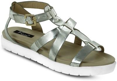 Kielz Women Silver Flats